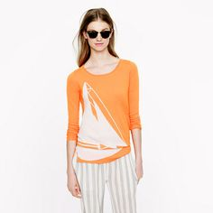 Collection featherweight cashmere sweater in sorbet stripe ...