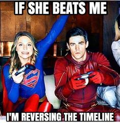 The Flash is one of the most popular CW TV DC comic superhero show. The people who watch the show might have known about the Flash and the timelines. Series Dc, Flash Funny, Tenacious D, Rasengan Vs Chidori, Super Heroine, The Flash Grant Gustin, Superhero Memes, Supergirl And Flash, Supergirl Tv