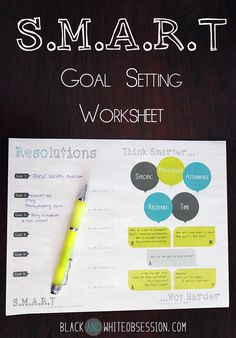 Black and White Obsession | Freebie Goal Setting Worksheet Free Printable #Resolutions