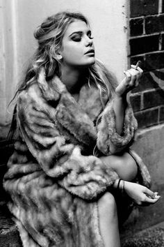 All you need is love. And Brigette Bardot hair and a faux fur coat.