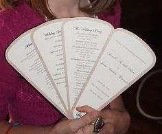 fan wedding programs, I love this idea! Especially because September can still be very warm!