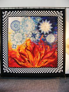 Claudia Pfeil Art Quilt :- Fire and Ice