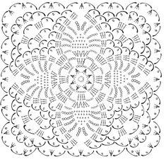 Advanced Photoshop tutorials on how to create professional looking photos. Crochet Motif Patterns, Crochet Blocks, Granny Square Crochet Pattern, Crochet Chart, Crochet Squares, Crochet Granny, Crochet Designs, Crochet Doilies, Crochet Stitches