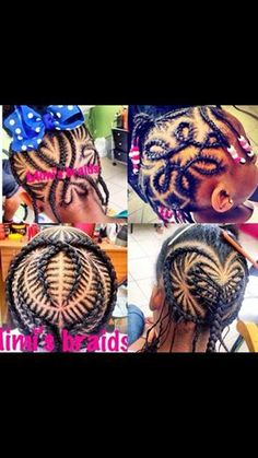 Girls braids scorpion heart Mi Mi's braids