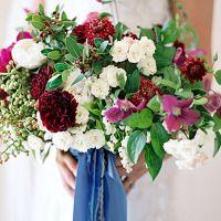 Fall 2014's Hot Color – Merlot Wedding Inspiration