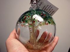 Tree of life Glass Witches Ball