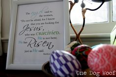 One Dog Woof: He has Risen! Free Printable