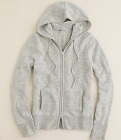 J.Crew cashmere hoodie = perfection