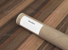 Collection 4 - Mock Up 7 - Paper Tube   Qeaql #resource #free #mockup #photoshop #branding #packaging