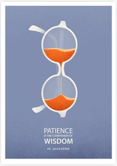 Fay - Placing glasses on end and make it look like the hourglass. This visual metaphor intend to describe that the patience is the comopanion of the wisdom, which is a thought and meaningful idea.