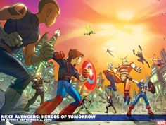 key art image for Next Avengers: Heroes of Tomorrow The image measures 643 * 900 pixels and is 135 kilobytes large. Next Avengers, Young Avengers, Avengers Comics, Marvel Comic Universe, Comics Universe, Marvel Art, Captain America Toys, Phineas Y Ferb, Superhero Kids