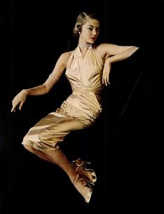 21-Carat Gold-Plated Evening Gown by Toni Owens - 1950