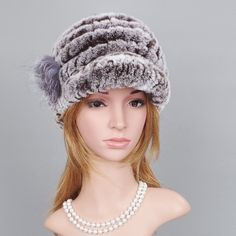 b3d0b6f9 [ OFF ] Winter Fur Hats Women Genuine Knitted Rex Rabbit Fur Hats Natural  Stripe Lady Winter Warm Headwear Rex Rabbit Fur Handmade Caps Supernatural  Style