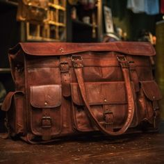 Everett Travel Bag - Vintage Leather