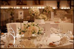 Wedding centerpiece - Wedding in Corfu Island  Floral decoration : Rammos-Floral Structures Photography : Studio 74 , Thanassis Rapsomanikis