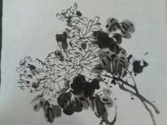 Korean Brush Painting - (1) Chrysanthemum Basics (소현의 국화기초) - YouTube