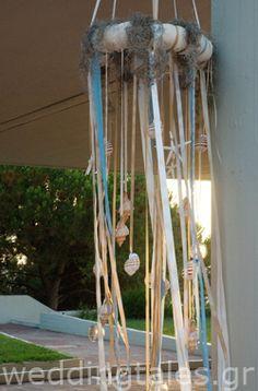Διακόσμηση Γάμου: Καλοκαιρινά γαμήλια στεφάνια με κοχύλια