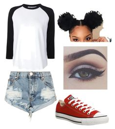 """""""Digital dash """" by brejeasmith on Polyvore featuring One Teaspoon, T By Alexander Wang, Converse and Bellezza"""