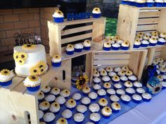 Sunflower wedding cake from The Joyful Bakery Auburn, WA  #sunflowerweddingcake #sunflowercake #sunflowery