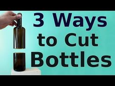 There are a few ways to cut glass bottles in half. My favorite way is to use a bottle cutter. If you don't have a bottle cutter, you can still cut bottles in. Old Wine Bottles, Recycled Glass Bottles, Glass Bottle Crafts, Wine Bottle Art, Diy Bottle, Wine Bottle Planter, Diy With Glass Bottles, Wine Bottles Decor, Crafts With Wine Bottles