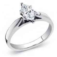 14k Gold Diamond Solitaire Ring 0.90 Carat
