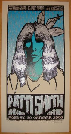 patti smith music gig posters | 2008 patti smith concert poster by bedford firehouse patti smith
