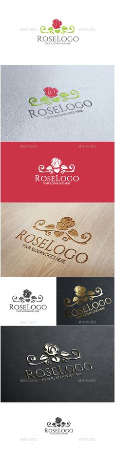 Rose - Logo Design Template Vector #logotype Download it here: http://graphicriver.net/item/rose-logo/11820880?s_rank=718?ref=nexion