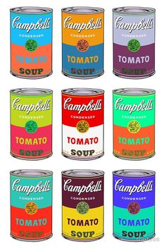 939682eecb2b8 Andy Warhol Campbell s soup cans pop art by triptees Latas De Sopa De  Campbell s
