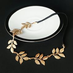 Grecian Gold Leaf Headband by HauteStateofMind on Etsy, $12.00 Cheaper version of the one on my Hair & Style board