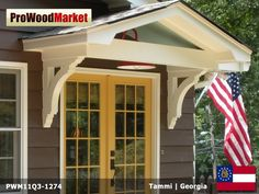 Overhang Canopy Awning Hood Over Front Door For The
