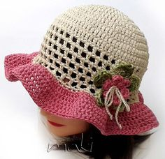 Crochet pattern Lea summer hat! This instant download crochet pattern is my original design and it may not be distributed in any form. You can sell