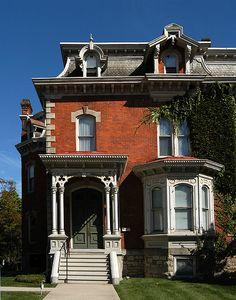Italianate Lighting   Second Empire house on Herkimer Street in Hamilton ON.