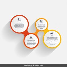 Infographic circles Free Vector