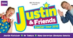 Justin Fletcher MBE will be taking to the stage in a brand new arena show Justin & Friends, presented by BBC Worldwide and set to tour throughout the UK over Easter 2013. Justin & Friends will bring together his most-loved characters in one spectacular show from the team who created the hit production CBeebies Live! Reach to the Stars which performed to rave reviews from parents in Easter 2012.