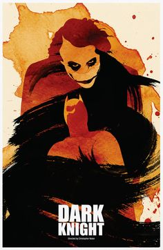 The Dark Knight Vintage Poster A3 Print by Posterinspired on Etsy