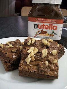 Nutella makes everything delicious, especially brownies!