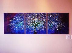 oversize large tryiptych Impasto oil painting by jeanvadalsmith
