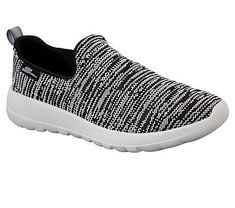 Skechers Men's GOwalk Max Infinite Slip On Sneakers (Black/White)
