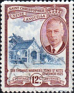1952 St Christopher Nevis Anguilla King George VI SG 100 Fine Used SG 100 Scott 113 Other Old postage stamps for sale Here