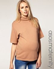 ASOS Maternity Roll Neck Top  $54.54  NOW $16.36