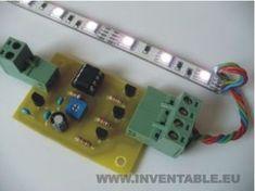 Proyecto DIY que describe como hacer un Mezclador automático para tiras de LEDs RGB. El sistema permite de cambiar la velocidad de transición de los colores Cool Electronics, Circuit Diagram, Emergency Lighting, Luz Led, Arduino, Inventions, Diy, Cool Stuff, Projects
