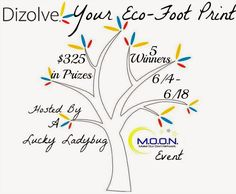 FIVE winners will EACH #win five boxes of eco-friendly Dizolve Laundry Strips in the Dizolve Your Eco Footprint #Giveaway! Total ARV $325! Ends June 18 (11:59pm).