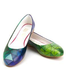 Another great find on #zulily! Green & Blue Prism Ballet Flat #zulilyfinds