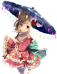 Anime girl with 2 colour of the eyes Anime Girl Kimono, Manga Girl, Anime Art Girl, Manga Anime, Anime Chibi, Anime Guys, Loli Kawaii, Anime Kawaii, Anime Characters List