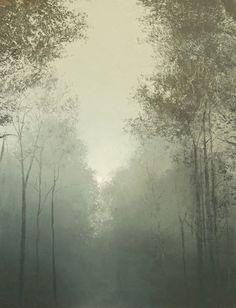 Benoît Trimborn, Chemin au Brouillard, 2014, Oil on Canvas.