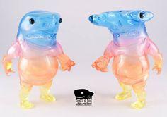 "Rainbow Gradient ""Shark Boy"" sofubi figures from Momoco Studio!!!"