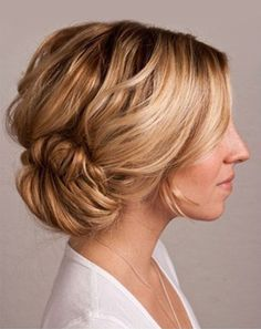 Twist your fishtail braid into a bun for a sassy hairstyle