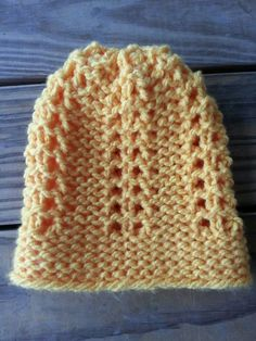 Feather stitch Hat