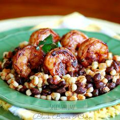 Spicy Shrimp, Black Beans and Corn