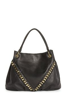 CASH Shopper Bag mit Goldkette in schwarz